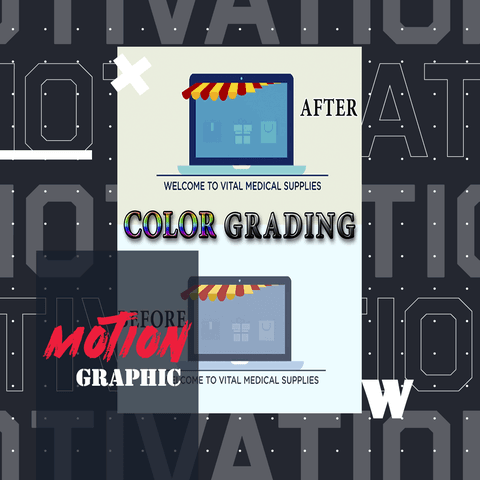 تصميم فيديو موشن جرافيك إعلاني مع color grading