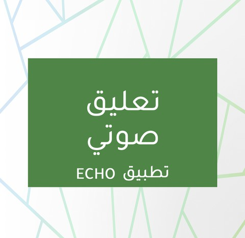 تعليق صوتي لتطبيق ECHO
