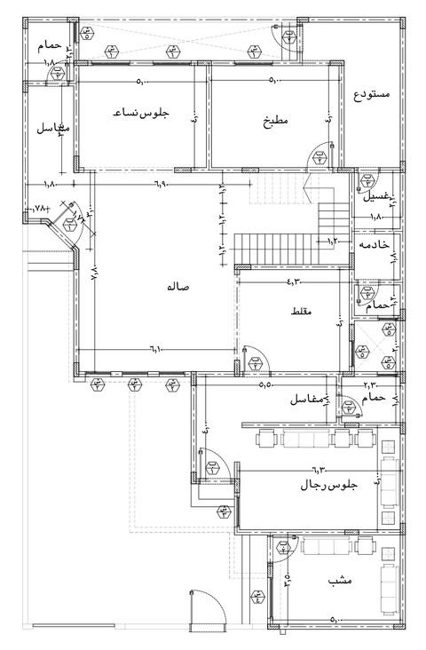 تصميم مخطط فيلا بالسعودية