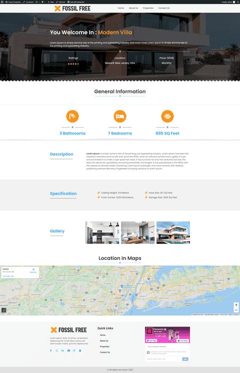 موقع ووردبريس : موقع عقاري لعرض البيوت والفنادق المعروضة للكراء أو البيع