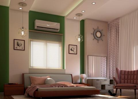 غرفة نوم بشقة سكنية بالشيخ زايد -  القاهرة