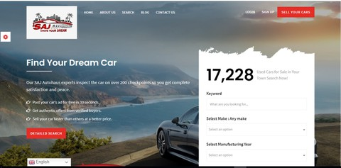 انشاء موقع لبيع وشراء السيارات