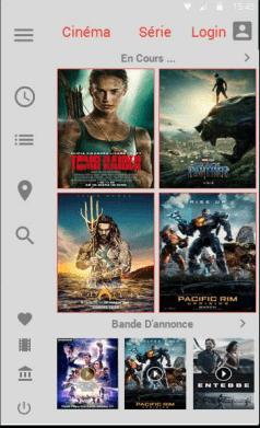 تطبيق السينما على الهاتف الأندرويد