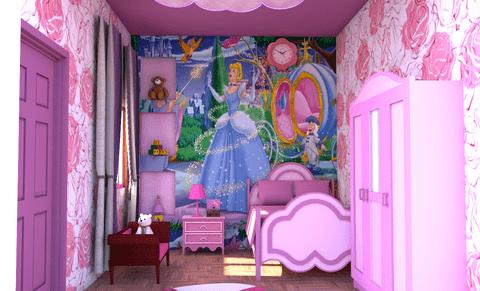 تصميم داخلى لغرفة نوم بنات