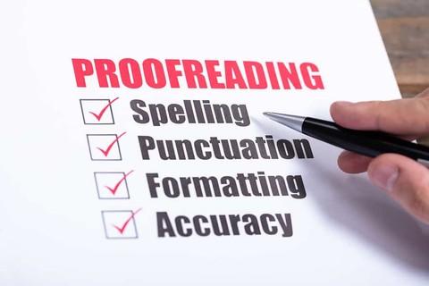 Proofreading - التدقيق اللغوي