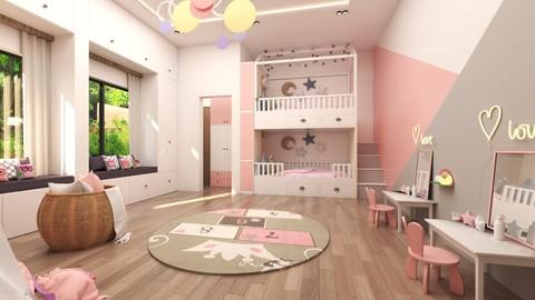 غرفة نوم اطفال (بنات) مدينة الرياض