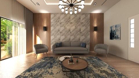 تصميم غرفة معيشة في مدينة جدة