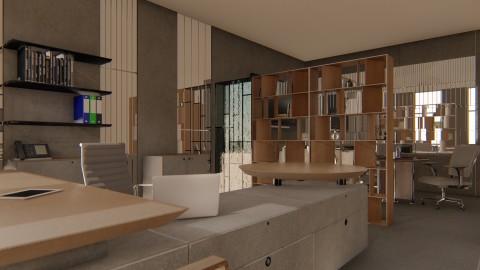 تصميم داخلي لشركة بمساحة 400 متر مربع