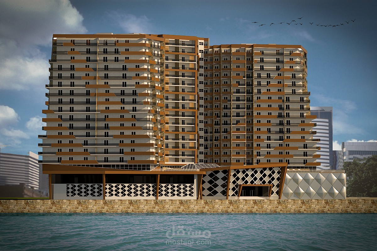 مشروع مجمع سكني تجاري