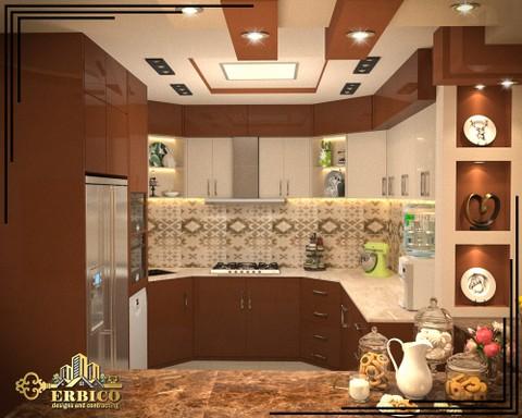 تصميمي لفراغ مطبخ بفيلا في مصر