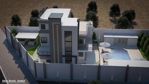 تصميمي لفيلا سكنية في محافظة حلب