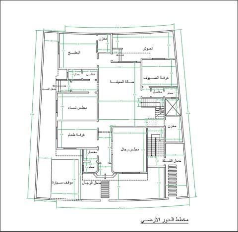 تصميم مخطط معماري لفيلا في السعودية