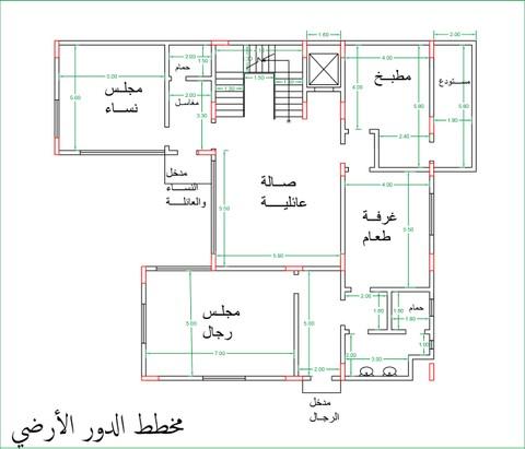 تصميم وتعديل لمخطط فيلا في السعودية