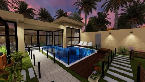تصميم خارجي لشاليه خاص في السعودية