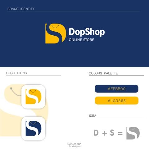 شعار لمتجر إلكترونيDopshopt