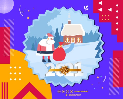 Video animation for the year 2021 (Santa Claus)