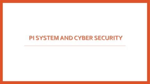 إنشاء وتصميم عرض تقديمي عن PI System
