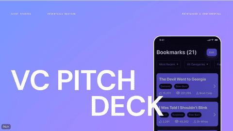 تصميم عرض تقديمي تفاعلي خلال منصة Pitch