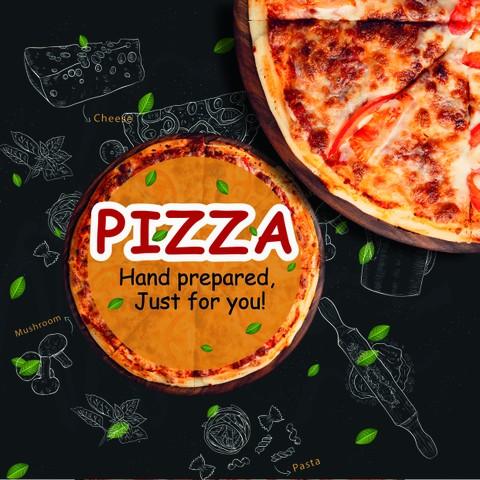 تصميم غلاف لكرتونة بيتزا