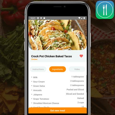 Random Meal Generator Mobile app