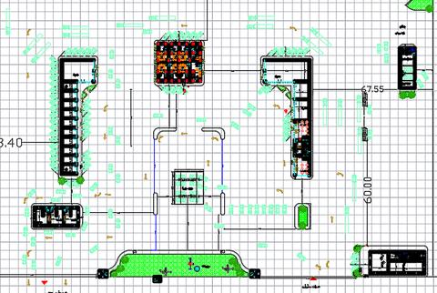 تصميم إنشائي لمحطة وقود