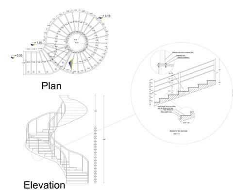 تصميم جميع انواع الادراج في المباني السكنية