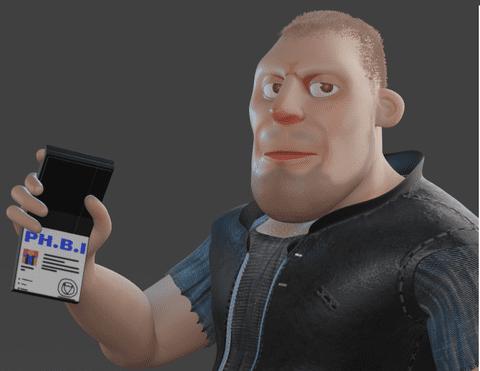 Modelling cartoon character