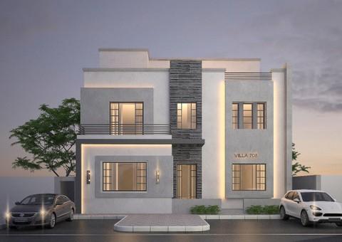 تصميم معماري وانشائي لفيلات اقتصادية