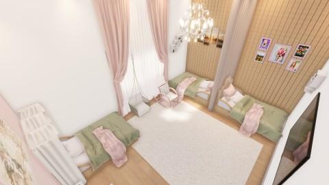 تصميم غرفة بنات بافضل استغلال للمساحات في عمان