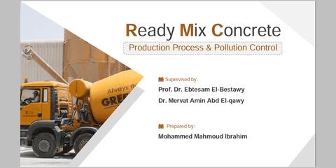 عرض تقديمي Ready Mix Concrete