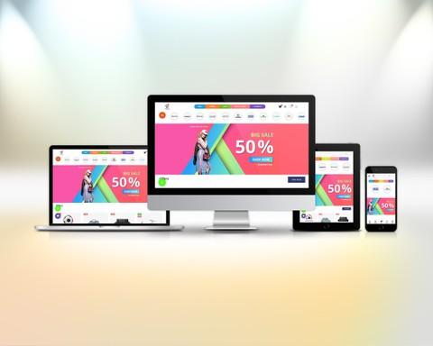 متجر الكتروني لعرض وبيع المنتجات