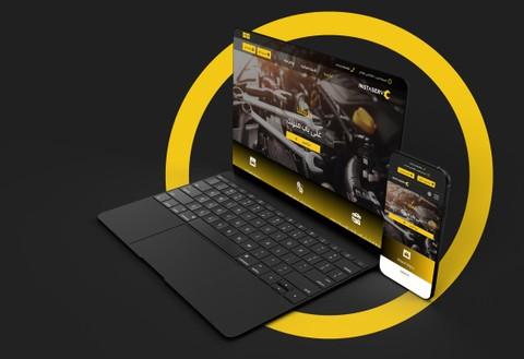 تصميم موقع خدمات للسيارات (responsive design)