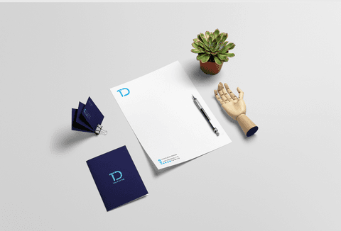 "Logo and identity""Top Design"""