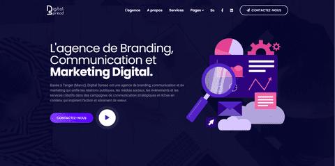 انشاء موقع متكامل لشركة مختصة في التسويق الرقمي