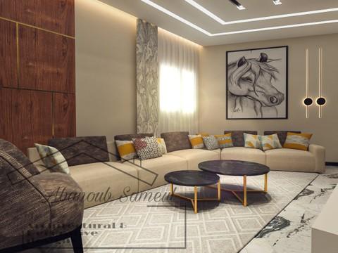 Contemporary modern living & dinning area