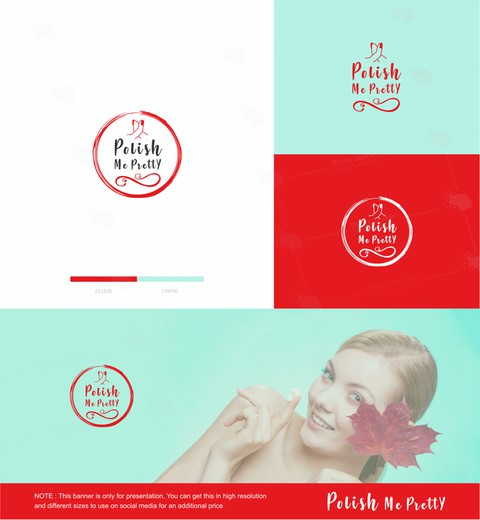 شعار لشركة ( polish me pretty )  بكندا