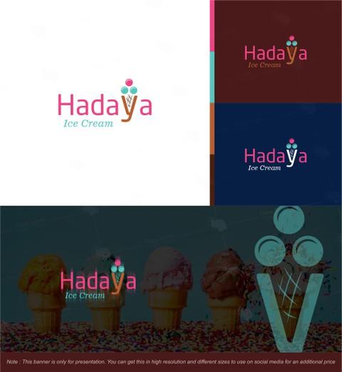 شعار لمحل ( Hadaya Ice Cream ) بالعراق