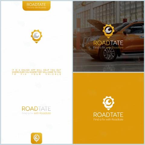 شعار لتطبيق ( ROADTATE ) بأمريكا