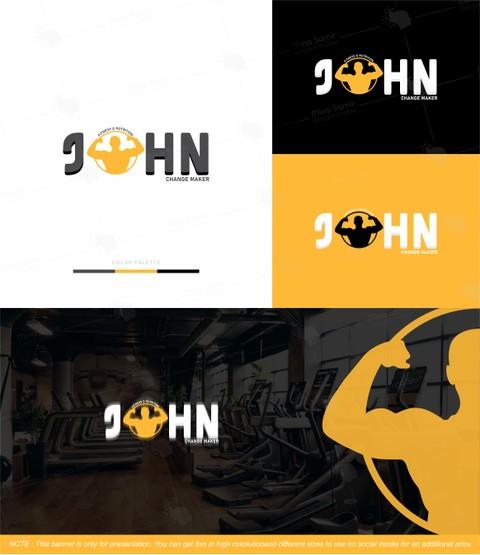 هوية بصرية لكابتن ( JOHN ) مدرب شخصي بمصر