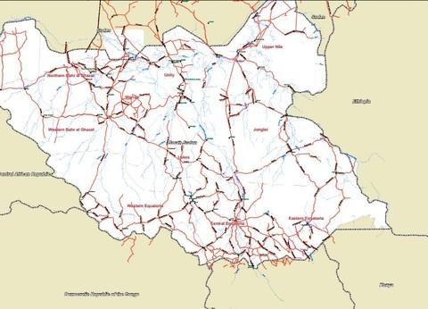 خريطة عامة جنوب السودان