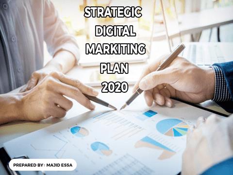 خطةإستراتيجية لتسويق رقمي  لتطبيق ناشىء