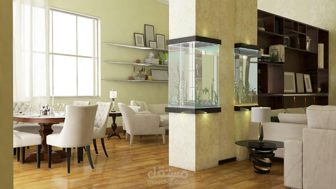 تصميم داخلي صالة عائلية