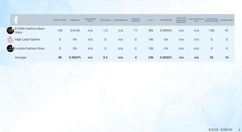 تقرير وتحليل لصفحات الإلكترونية