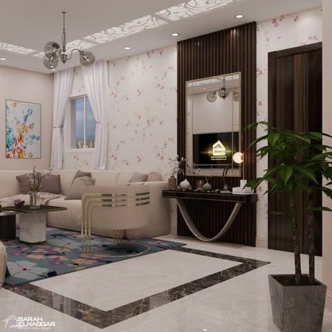 تصميم مودرن لغرفة معيشه داخلية