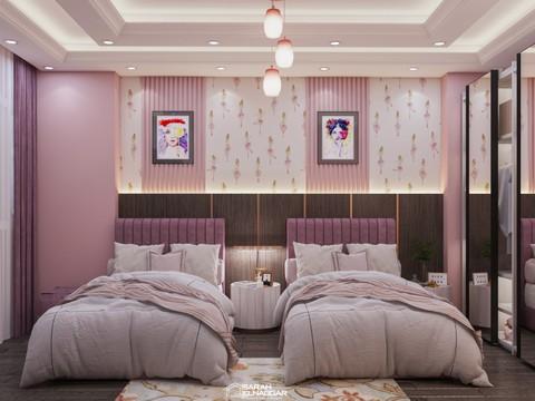 تصميم غرفة نوم بنات