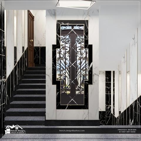 تصميم مدخل مبنى سكنى