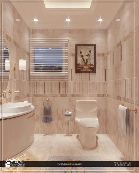 تصميم حمام ضيوف