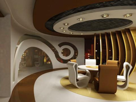 تصميم داخلي وديكور لمطعم