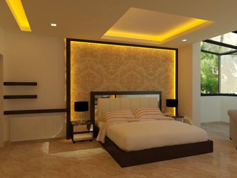 تصميم داخلي وديكور لغرفة نوم