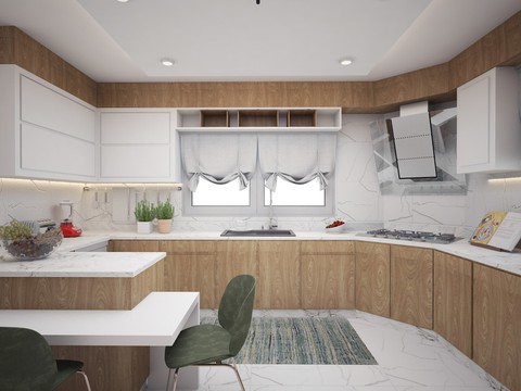 تصميم داخلي وديكور لمطبخ